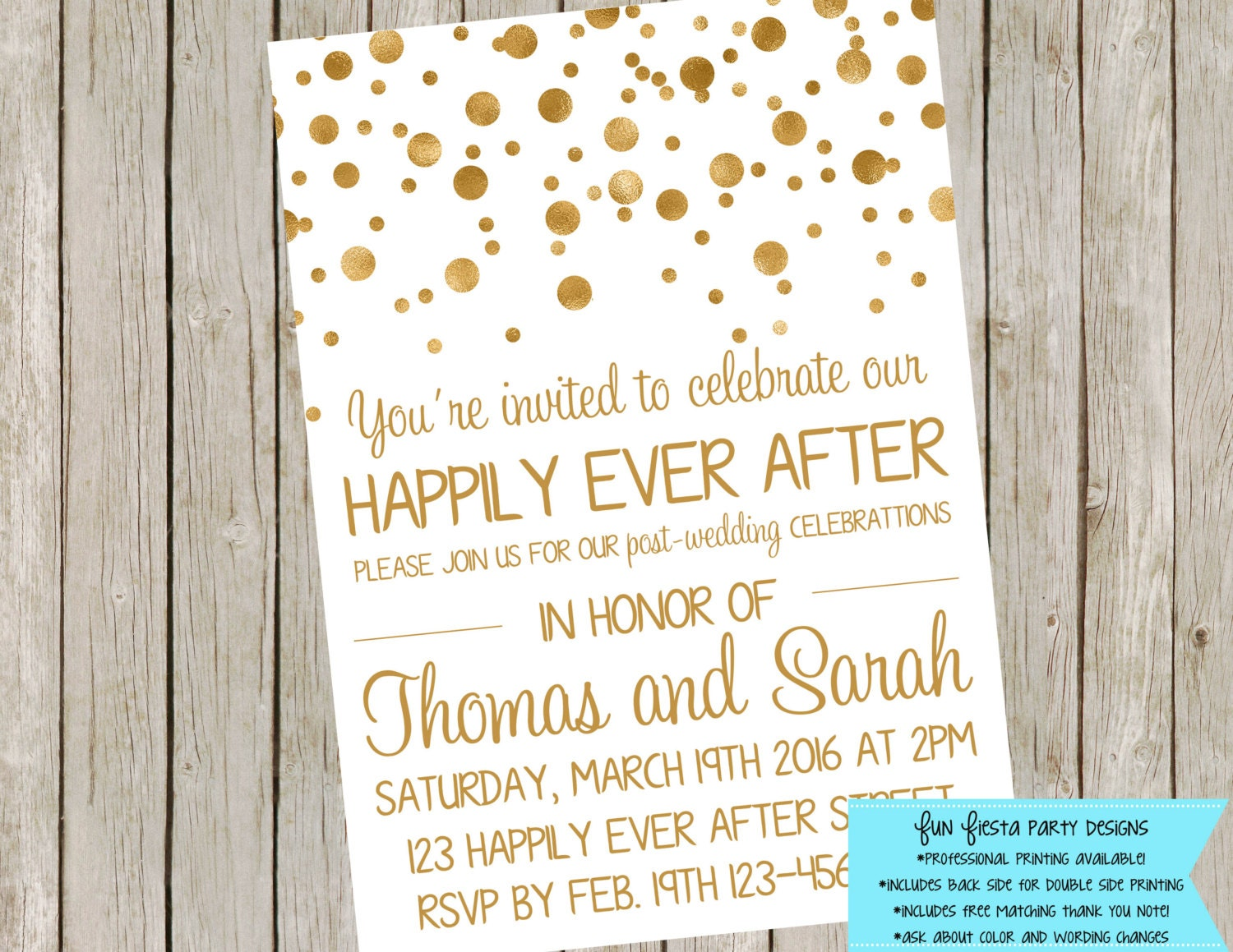 Wedding Reception Or After Party Invitation Etsy