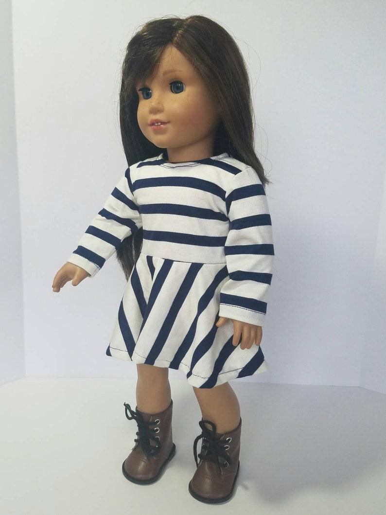 824f4af77 Blue stripe skater skirt dress American made girl skater   Etsy