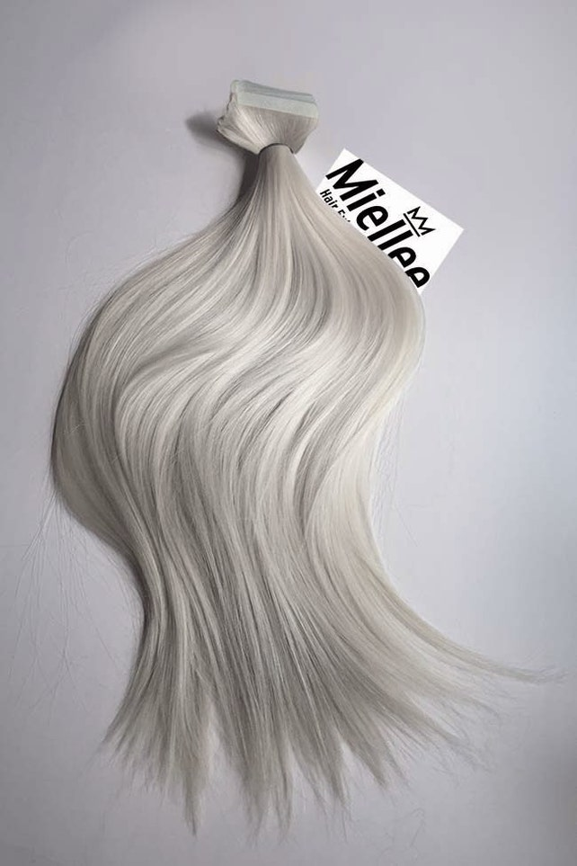Icy Ash Blonde Tape In Hair Extensions Silky Straight Etsy