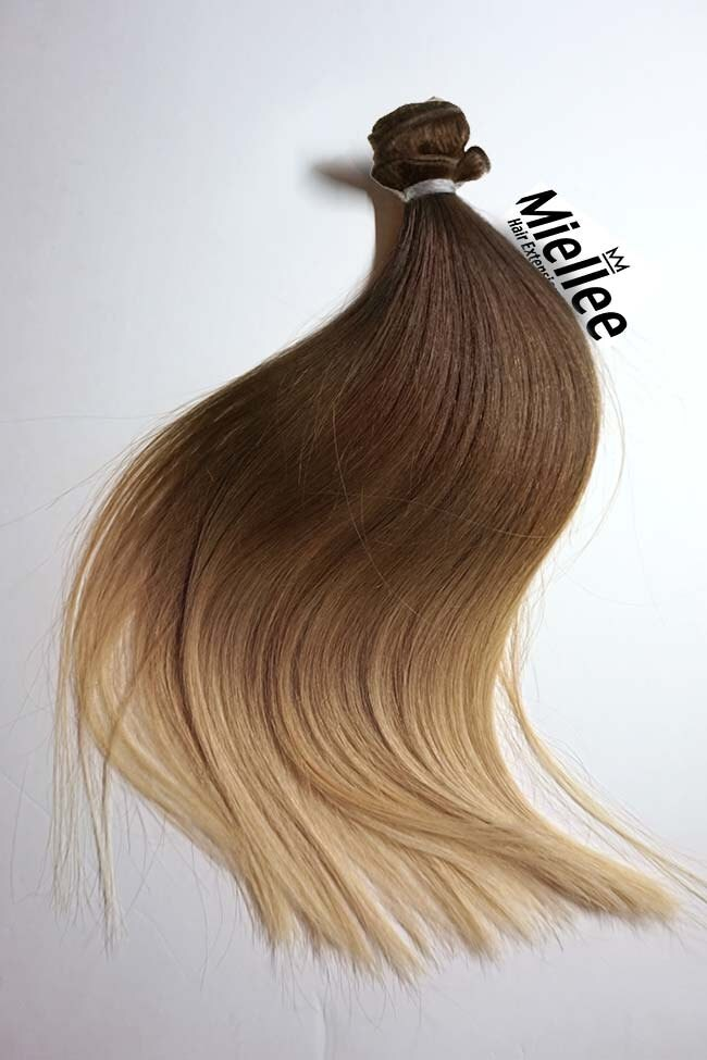 Light Golden Brown Balayage Weave Hair Extensions Silky Etsy