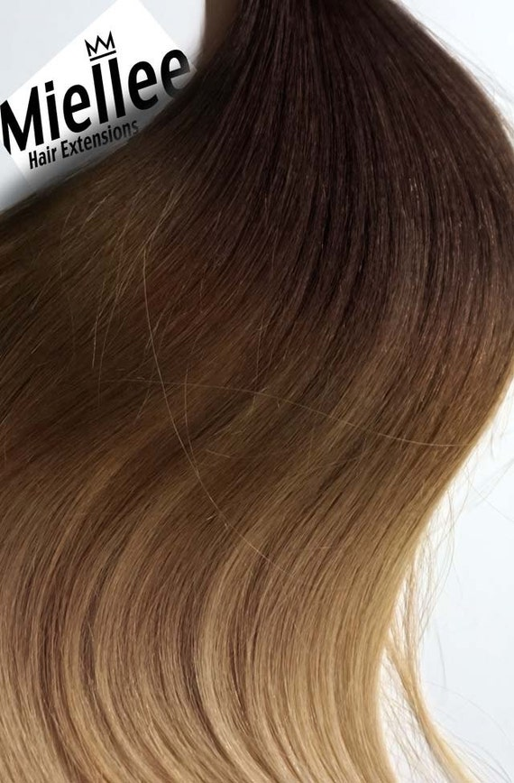 Light Golden Brown Balayage Tape In Hair Extensions Silky Etsy