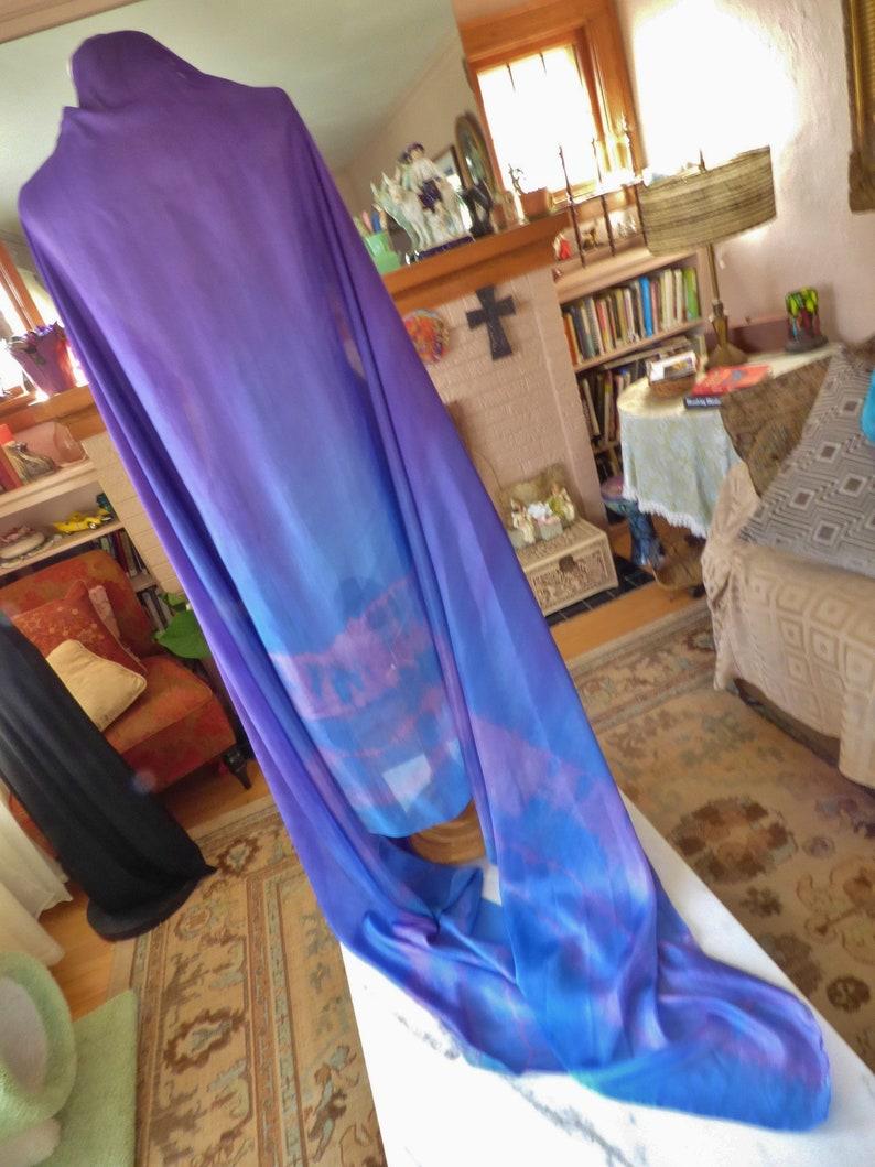 Belly Dance Silk Veil Bellydance Silk Purple Veil Praise Silk