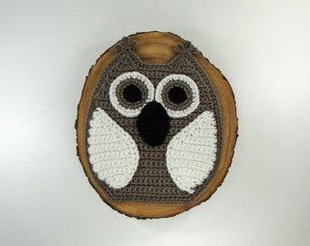 Owl Potholder - Taupe Owl Potholder - Owl Pot Holder - Owl Hotpad - Owl Trivet