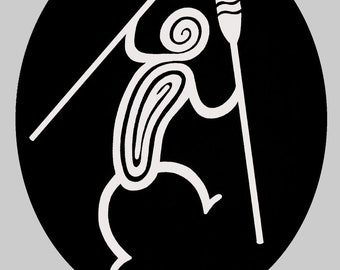 Window cling of a Tribal Rower