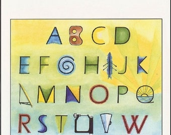 """Single """"ABCs of Rowing"""" card printed on 80 lb glossy card stock with envelope."""