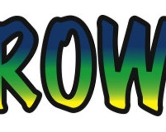 """Temporary """"ROW"""" Tattoo- pack of 10"""