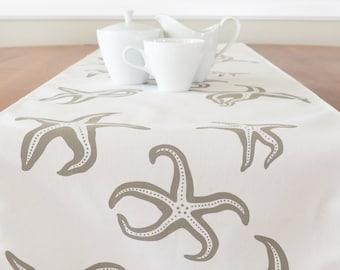 Starfish Table Runner, Cream Table Runner, Blue Table Runner, Beach Table  Runner,