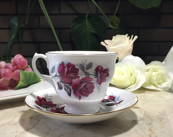 Queen Anne Teacup and Saucer - Vintage Teacup -