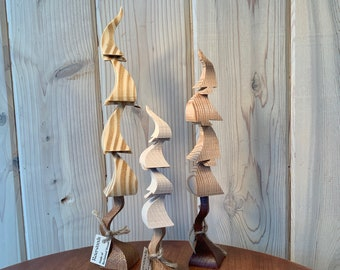Whimsical Natural Trees - Set of 3