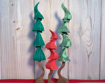 Small Holiday Trees (Sets of 3)