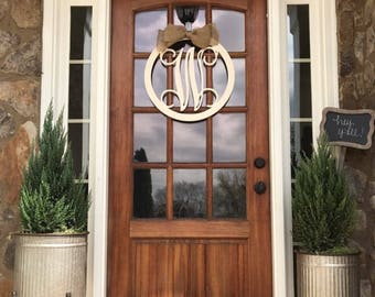 Monogram door hanger | Etsy
