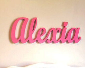 Name Plaque - Wooden Name for Kids or Baby Room Decor-Kids Personalized Wooden Name Signs-Wooden wall letters