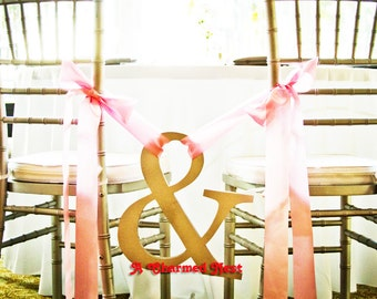 """Wooden Ampersand Sign -18"""" Ampersand Sign Photo Prop Wedding Sign for Photos - Wedding Chairs Decoration, Wedding Sign Photography Prop"""