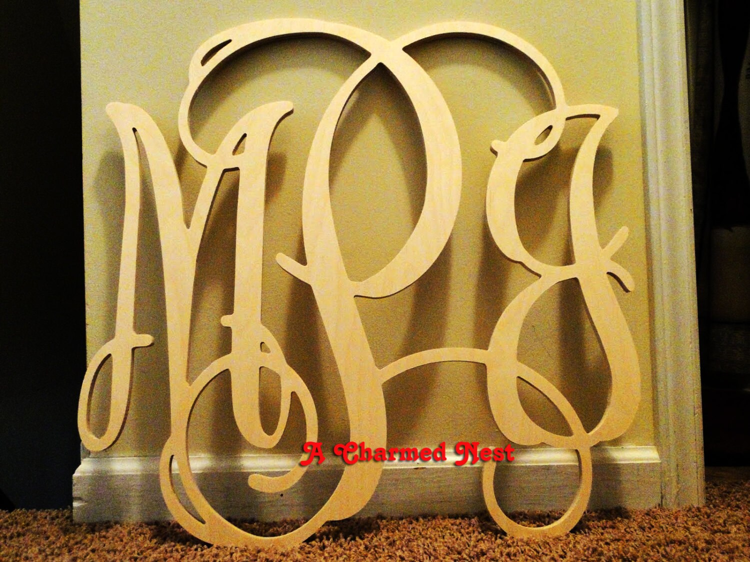 22 inch Wooden Wall Monogram Letters. Great for weddings   Etsy
