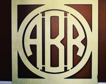 """Wooden Monogram - Painted Wooden Letters - 24"""" x 24"""" - Wood Monogram- Wall Decor - Large Wooden Monogram great for wedding decor, home decor"""