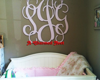 26 inch Wooden Monogram Letters