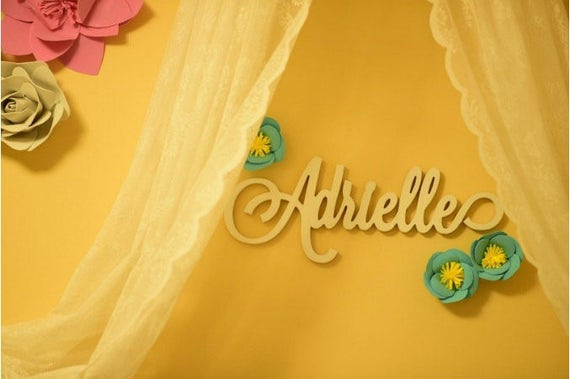 Nursery Name Sign for Baby Bedroom Wall Decor Wooden Letters