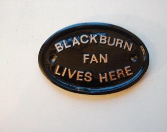 Blackburn Fan vit ici, football, football, Rover, ewood park
