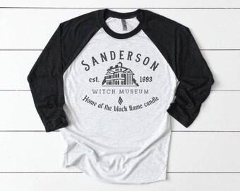 Sanderson Sisters Halloween Shirt | Women's Halloween Shirt | Cute Fall Shirts | Sanderson Sisters Raglan