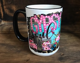 Cute Coffee Mug/Gypsy Soul/Coffee Drinker Gift/Coworker Gift/Coffee Mug/Coffee Lover