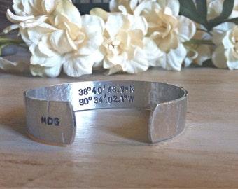 Custom Coordinates Jewelry - Longitude Latitude Bracelet - GPS Bracelet - Coordinates Jewelry - Latitude Bracelet - Personalized Jewelry