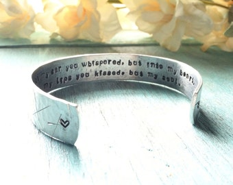 Hand Stamped Gift for Bride - Hidden Message - Anniversary Gift - Personalized Jewelry