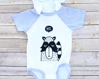 Raccoon Bodysuit//Baby Boy Bodysuit//Graphic Bodysuit//New Baby Gift//Baby Shower Gift//Mom Gift//Hooded Bodysuit//Funny Bodysuit
