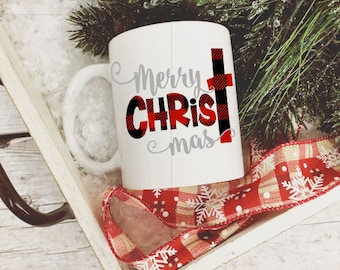 Merry CHRISTmas Coffee Mug/Christian Christmas Coffee Mug/Christmas Mug/Holiday Coffee Mug/Coffee Gift/Christmas Coffee Cup
