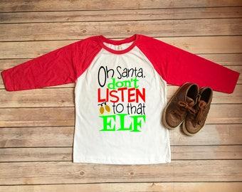 Kids Christmas Tee/Christmas Raglan Shirt/Christmas Shirt for Kids/Funny Christmas Tshirt/Boys Christmas Tee/Girls Christmas Tee
