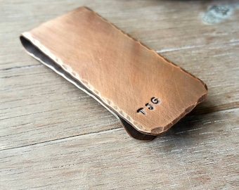 Personalized Money Clip - Copper Money Clip - Gift for Dad - Groomsmen Gift - Gifts for Him - Gifts Under 50 dollars