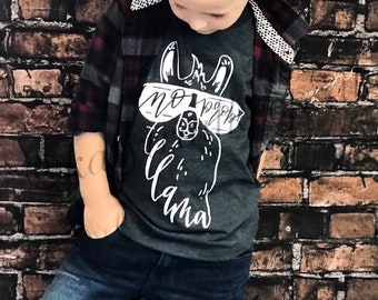 No Prob Llama, Llama Shirt for Boys, Funny Boys Tee, Little Boys Tee Shirt, Alpaca Tee, Trendy Tee for Boys, Funny Llama Shirt
