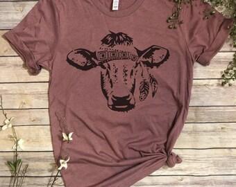 Gypsy Cow, Gypsy Shirt, Cow Shirt, Cowgirl, Cow lover Shirt, Cow lover gift, Gypsy Cowgirl, Cowgirl Gift, Farmstyle, Cow Tee