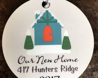 New Home Christmas Ornament Personalized - Custom Christmas Ornament - New Couple Christmas Ornament - Personalized Christmas Ornament
