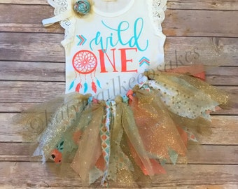 First Birthday Outfit Girl//1st Birthday Outfit//Girls First Birthday Tutu Outfit//Wild One Birthday Girl//Wild One Dreamcatcher Birthday