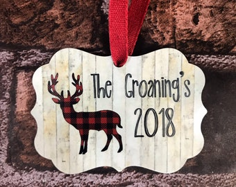 Personalized Family Name Ornament - Custom Christmas Ornament - Family Name 2018 Christmas Ornament Personalized - Gifts under 25