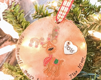 Baby's First Christmas Ornament Personalized -  Custom Christmas Ornament - New Baby Ornament - Personalized Christmas Ornament
