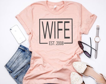 Wife t-shirt, Women's Tee, Wifey T-Shirt, Mama Shirt , Funny Tee, Graphic Tee, Trendy Shirt, Women's Apparel