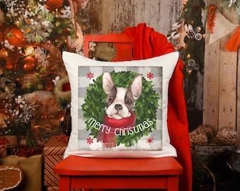 Merry Christmas Pillow, Dog Christmas Decor, Dog Lover Christmas, Dog Lover Gift, Dog Mom, Dog Dad, Christmas Throw Pillow, Dog Pillow