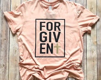 Mom t-shirt, Forgiven Tee, Women's Tee, Mama Shirt , Trendy Shirt, Christian Shirt, Women's Apparel