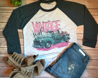 Vintage Soul Shirt/Farmhouse Style/Rustic Style/Vintage T Shirt/Vintage Soul Tee/Fall Shirts/Autumn Shirt