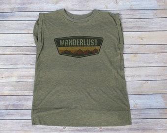 Wanderlust Shirt, Adventurer Shirt, Hiking Shirt, Gym Tee, Yoga Tee, Outdoor Tee, Camping Shirt, Vacation Clothing, Wanderlust T-shirt