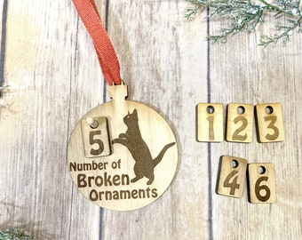 Pet Lover Ornament, Naughty Cat Ornament, Funny Cat Ornament, Cat Lover Ornaments, Cat Lover Gifts, Cat Mom, Cat Dad, Funny Cat Christmas