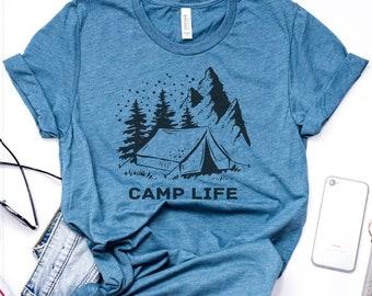 Camp Life Shirt, Hiking Shirt, Camping Shirt, Outdoor Shirt, Outdoors Gift, Outdoor Lover Shirt, Hiking Lover, Camping Lover, Adventure Tee
