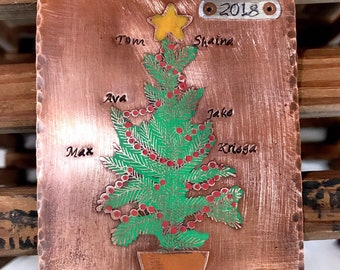 Family Name Personalized Christmas Ornament 2018 Our Grand babies Custom Christmas Ornament Grandparent Gift