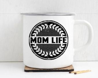 Mothers Day Coffee Cup, Mom Life Camp Mug, Mom Mug, Gift for Mom, Baby Shower Gift for New Mom