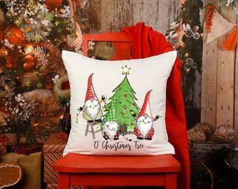 Funny Christmas Pillow, O Christmas Tree Pillow, Christmas Gnome Pillow, Funny Gnome Pillow, Christmas Lights Pillow, Christmas Throw Pillow