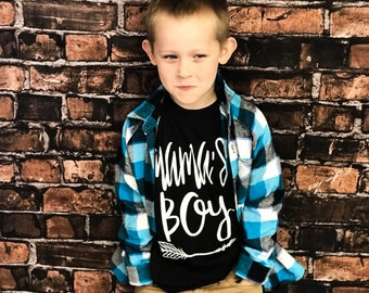 Mamas Boy Shirt, Boy Mom Shirt, Hipster Boy, Boys Tee, Mommys Boy, Boy Mom,Trendy Tee for Boys, Graphic Tee