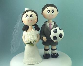 Soccer wedding cake topper / wedding cake topper / futbol | Etsy