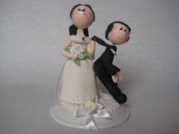 Lustige Hochzeitstorte Figur Lustig Hochzeit Cake Topper Etsy