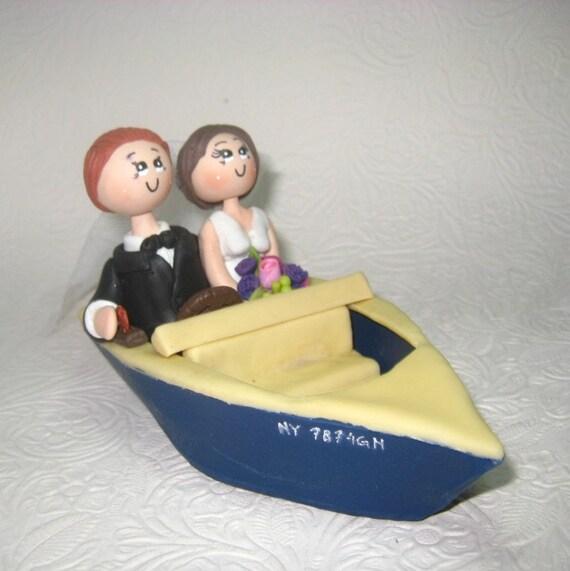 Custom weedding cake topper boat wedding cake topper sailor | Etsy